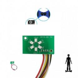 Leds centrales indicador batería hoverboard
