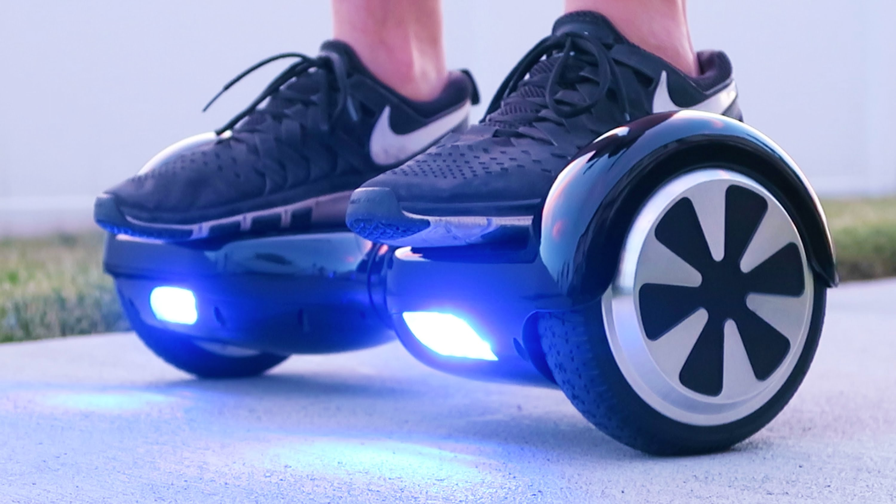 Mini segway con luces